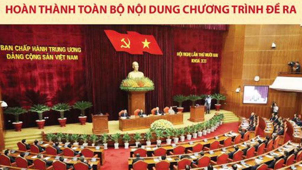Hội nghị lần thứ 12 BCH Trung ương Đảng khóa XII hoàn thành toàn bộ nội dung chương trình đề ra